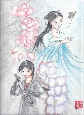 Li Chunfeng and Zhang Huizhong - Gladiolus and Peony Flowers (2018)